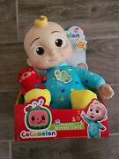 New Cocomelon Musical Bedtime Jj Doll With Plush Tummy And Roto Head Fast Ship