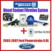 Sinister For 03-07 Ford Powerstroke 6.0 Coolant Filtration System W/extra Filter