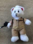 Build-a-bear Ghostbusters 18 White Teddy Bear Plush Jumpsuit Sound Proton Pack