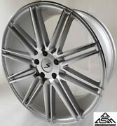 Custom Wheels / Rims 22 Inch 5x130 +40mm Silver Machine Porsche Cayenne