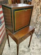Antique Campaign Desk Andndash Small Fold Dow Desk W/ One Drawer Andndash Very Nice