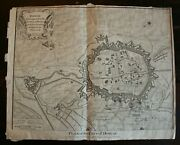 Doway, Plan Of The City Original Copper Plate Engraving Published 1751