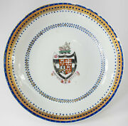 Antique Chinese Export Armorial Coat Of Arms Plate Dish Alexander Hamilton Grand