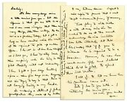 Eisenhower 1940 Letter Signed To Mamie Re West Point