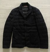 Moncler 2 Giacca Down Padded Smart Black Blazer Jacket Size S Tailored Fit