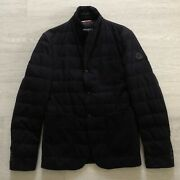 Moncler 2 Giacca Bn Down Padded Smart Black Blazer Jacket Size S Tailored Fit