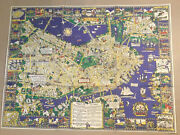1926 Houghton Mifflin Old City Map Of Boston Color