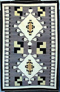 Navajo Weaving Pictorial Crystal And03976 Feathersand039 6 Blocks 76 X 46