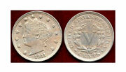 1911 5c-well Struck Including The Centers Of The Stars- Liberty Nickel++