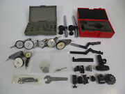Dial Test Indicator Parts Lot - Mitutoyo Starrett Contact Points And Accessories