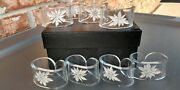 Set Of 8 Clear Acrylic/ Lucite Reverse Cut Poinsettia Napkin Rings 2 X 1.25