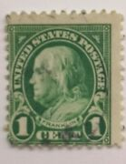 1 Cent Franklin. Zandaumlhung 11 . Perf 11 At Top And Bottom. Well Centered