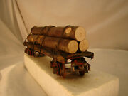 O Scale, Handcrafted, Custom Weathered Logging Car - Look At Coupler Lot 3