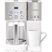 Cuisinart Coffee Center 12-cup Coffee Maker And Single-serve Brewer - White