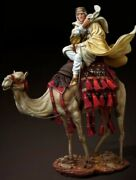 Tin Toy Soldier 90 Mm.superb Elite Luxury Painting In St.petersburg.on A Camel