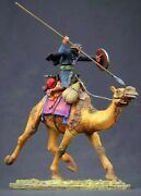 Tin Toy Soldier On A Camel 54 Mm Collection Painting In St.petersburg.on A Camel