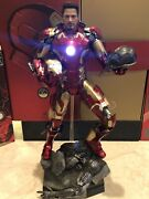 Hot Toys Iron Man Mark 43 1/4 Scale Age Of Ultron Qs005 Complete