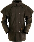 Outback Trading Co Menand039s Co. Short Oilskin Duster - 5008 Brn