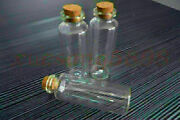 10 Pcs 30ml Glass Bottles Vials 27x79mm 1.06x3.11in Small Clear Bottle With Cork