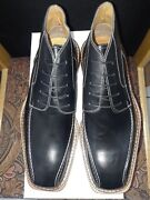 Made In Italy. Bruno Sergi Menand039s Shoes Genuine Leather Color Black Lace-up