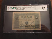 1874 Germany 5 Mark Pmg 12 Fine Pick 1 Imperial Note Rare Free Shipping