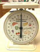 Vintage American Family Metal Kitchen Scale Ivory