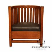 Plail Brothers Prairie School Antique Arts And Crafts Barrel Back Chair
