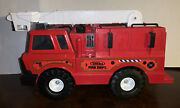 Vintage Tonka No.5 Red Fire Dept. Truck With Ladder And Bucket Large Hasbro 1999
