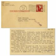 Hunter S. Thompson Typed Postcard Re Rum Diary