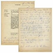 Hunter S. Thompson Autograph Letter Re Jfkand039s Win