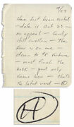 Hunter Thompson Autograph Letter Signed And039and039been Evictedand039and039