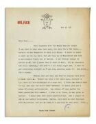 Hunter S. Thompson 1968 Typed Letter Signed H