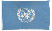 Original United Nations 6and039 X 4and039 Flag Circa 1946