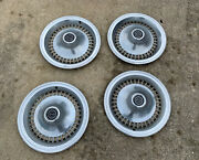 4 1970and039s Ford Thunderbird Oem T-bird Hubcaps Wheel Covers Vintage Caps Free Ship