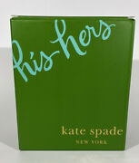 New Kate Spade And Lenox Etched His Hers Beer Glass Set Nib Wedding Gift