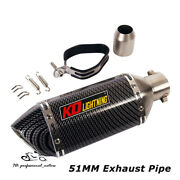310mm Motorcycle Atv Exhaust Muffler Tail Pipe Short With Db Killer Universal