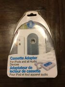 Cassette Player Adapter For Ipods/mp3/cd Players And Other Audio Players Nip