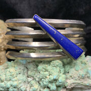 Vintage Na Na Ping Andldquomichael Garciaandrdquo Sterling Silver And Lapis Cuff Bracelet