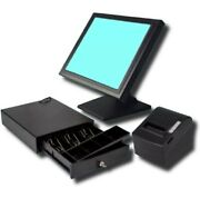 Brand New Touch Screen Pos Epos Cash Register Till System - No Monthly Fees