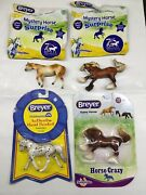 Breyer Stablemates Lot Of 4 Horses. Gypsy Vanner, Indian Pony And Knabstrupper