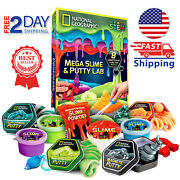 National Geographic Mega Slime Kit And Putty Lab - 4 Slime-putty 8 Pack