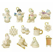Lenox Snow Pals Miniature Ornaments Tree Not Included New