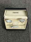 Vintage Mens Swank Cuff Links And Tie Clip