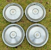 Set Of 4 Cadillac Hubcaps 1970 Coupe Deville