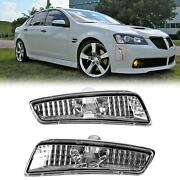 For 08-09 Pontiac G8 Gt Gxp Clear Front Bumper Side Markers Lights Pair Lh Rh