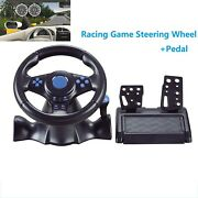 Steering Wheel Pedal Set Racing Gaming Simulator Driving For Ps4/ps3/pc/pc 360