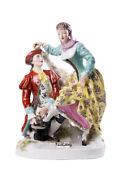 Antique Original 19th French Porcelain Story Figurine By H. Giraud Signed 34 Cm