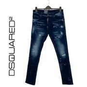 Dsquared2andnbsp Denim Jeans Distressed 5 Pockets Elastic Size 38 Uk Made In Italy