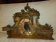 Antique Carved Walnut Shelf With Mirror – Hand Made Victorian