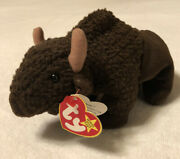1998 Roam The Buffalo Bison - Ty Beanie Baby Rare Retired Collectible W/ Tags